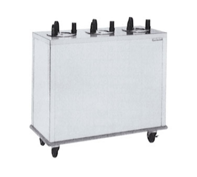 Delfield CAB3-1013 10.12-in Enclosed Mobile Plate Dispenser w/ 3-Self-Elevating Tubes