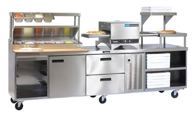 Delfield F18RC119-ES1R 119-in Pizza Production Center w/ Built-In Impingement Oven, Right, 115 V