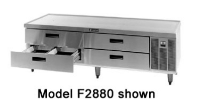 Delfield F2880 80-in Remote Freezer Equipment Stand w/ 2-Drawers, 1-Section, 115 V