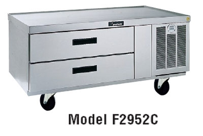 Delfield F2956C230 56-in Refrigerated Base Equipment Stand w/ 2-Drawers, 1/5-hp, Expo