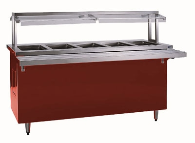 Delfield KCSC-74-EF 74-in Refrigerated Cold Food Counter w/ Drain, 5-Pan, 6-in Deep, 115 V