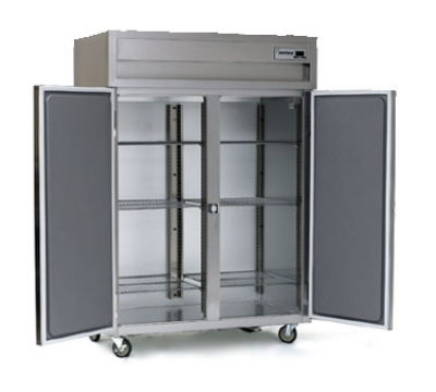 Delfield SSF2N-SH Narrow 2-Section Reach-In Freezer w/ Half Solid Door, 43.94-cu ft