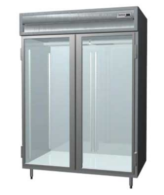 "Delfield SARPT2-GS 56"" Pass-Thru Refrigerator - Full Glass Front, 55.42-cu ft"