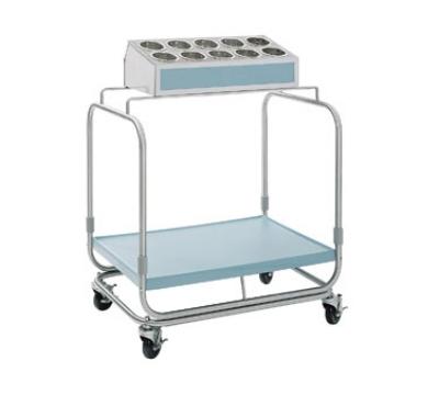 Delfield UTS-1 Tray & Silver Cart w/ 10-Hole Silverware Bin & Cylinders, 1-Shelf