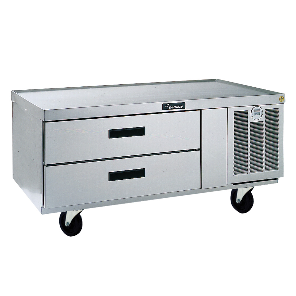 Delfield F2952C 52-in Refrigerated Lo-Profile Equipment Stand w/ 2 -Drawers