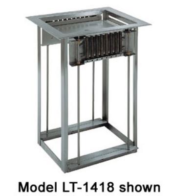 Delfield LT-2020 Drop-In Open Frame Tray Dispenser w/ Self-Leveling Platform