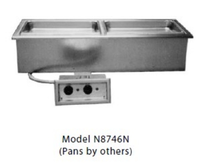 Delfield N8746ND Wet Or Dry Narrow Drop-In Hot Food Well For (2) 12 x 20-in Pans