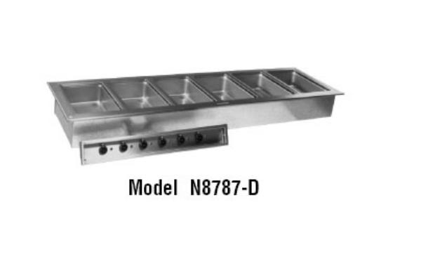 Delfield N8787-D Drop-In Hot Food Well Unit, 6 Pan Size