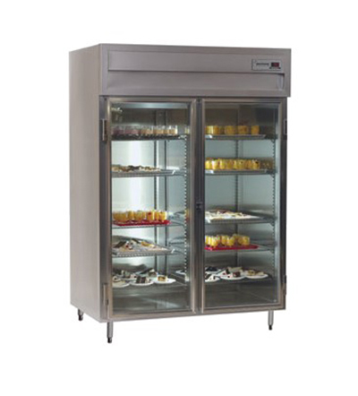 Delfield SAF2-G Reach In Freezer - 51.92-cu ft, Digital Thermometer, 2-Glass Hinged Full Door