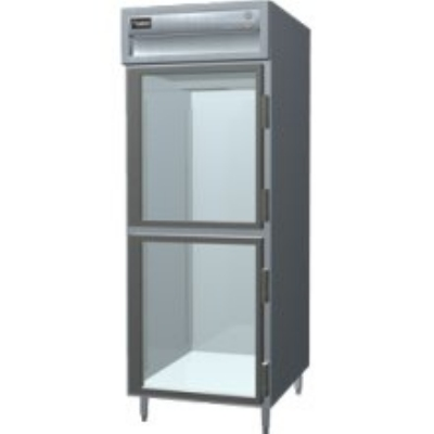 "Delfield SARPT1-GHSH 29"" Pass-Thru Refrigerator - Half Glass Front, 26.64-cu ft"