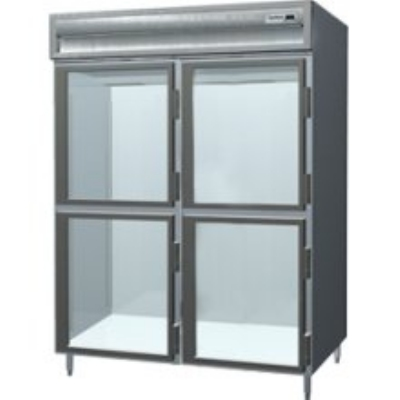 "Delfield SARPT2-GHSH 56"" Pass-Thru Refrigerator -  Half Glass Front, 55.42-cu ft"