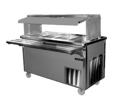 Delfield SH-4-NU 60-in Hot Food Serving Counter w/ 4-Pan Capacity, Enclosed Base