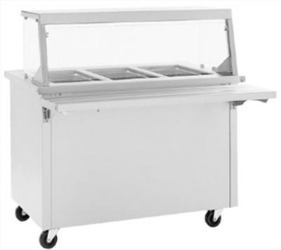 Delfield SH-5-NU 5-Pan Size Hot Food Serving Counter w/ Heated Storage Base
