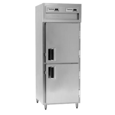 Delfield SMH1-SH Single Reach-In Hot Food Cabinet w/ Half Solid Doors, 24.96-cu ft