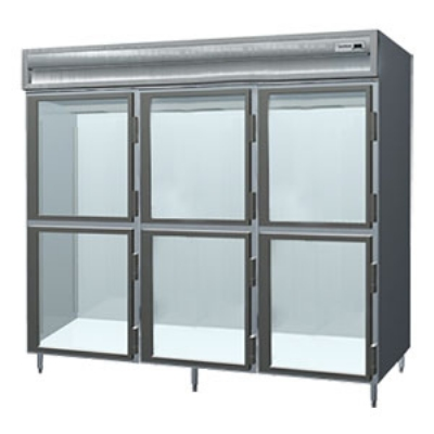 Delfield SMH3-GH 3-Section Reach-In Hot food Cabinet w/ Glass Half, 78.89-cu ft, 120/208-230V