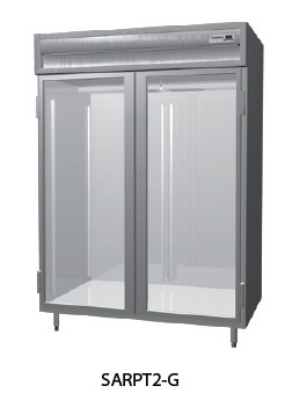 "Delfield SMRPT1-GHSH 29"" Single Section Pass Thru Reach-In Refrigerator, (2) Glass Door, 115v"