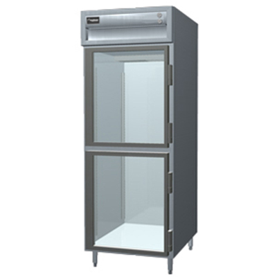 Delfield SSF1-GH230 Reach-In Freezer w/ Glass Half Door, Stainless, 24.96-cu ft, Export