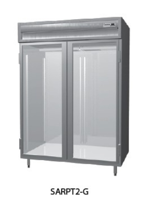 "Delfield SSRPT1-GHSH 29"" Pass-Thru Refrigerator-  Half Glass Door, 24.64-cu ft"