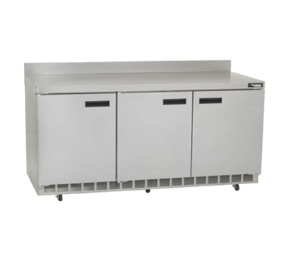 "Delfield ST4472N 72"" Work Top Refrigerator w/ (3) Sections, 115v"
