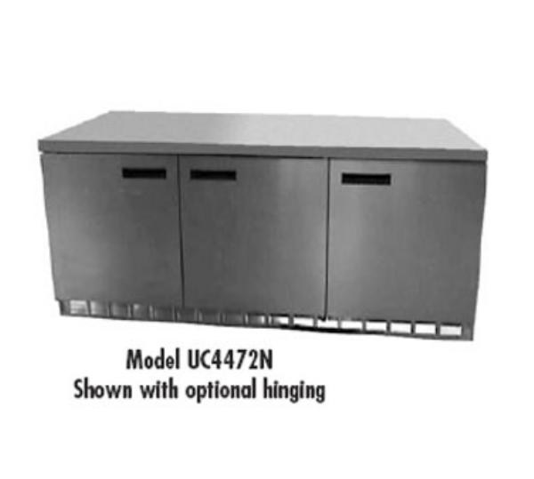 Delfield UC4472N 72 in Undercounter Refrigerator, 3 Section/3 Door