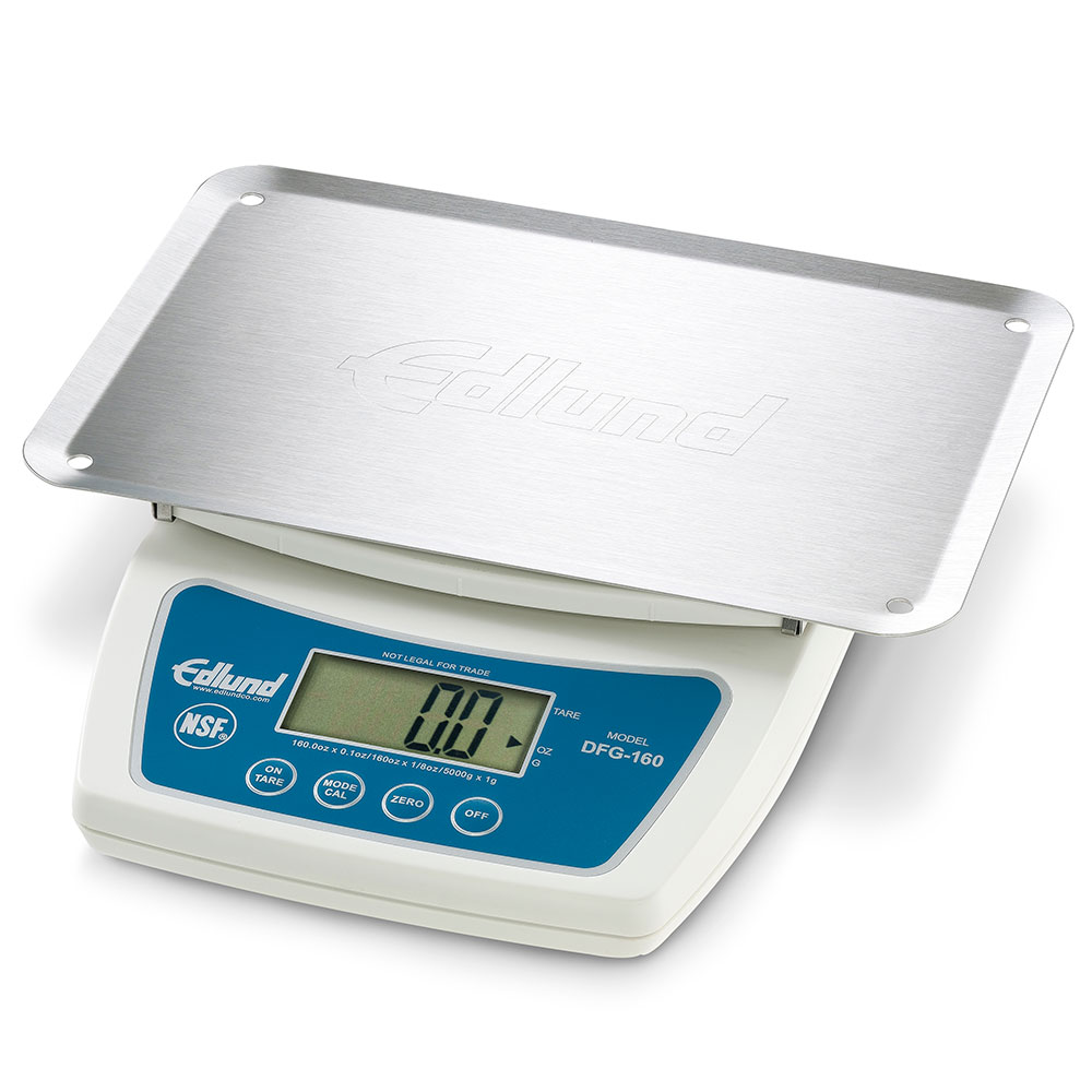 Edlund DFG-160 OP Digital Scale w/ Large LCD Display & Automatic Shutoff, Plastic Body, Stainless Platform