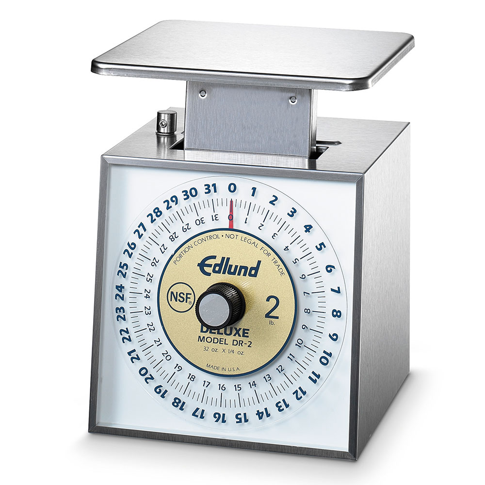 Edlund DR-2 Top Loading Dial Type Portion Scale, 32-oz - 1/4-oz