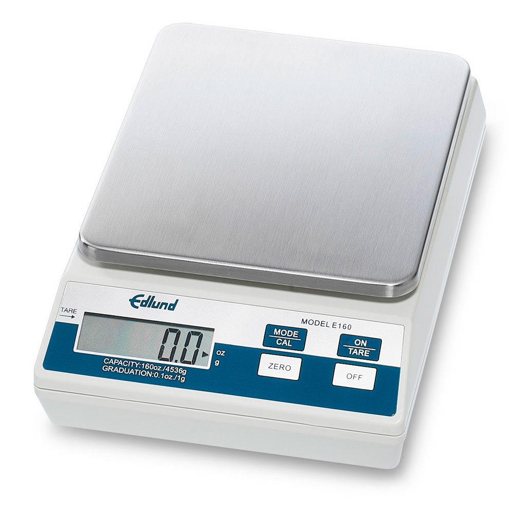 Edlund E-160 Digital Portion Scale, Auto Push Button Tare, 160-oz x 0.1