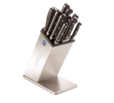 Edlund KBS-2006 Knife Block, 6 Open Slots, 9 in H, Stainless S