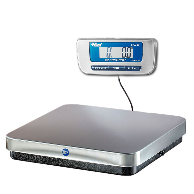 Edlund EPZ-20 20-lb Digital Pizza Scale w/ Wall Mounting Bracket, S