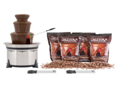 Sephra 10525 Classic Milk Package w/ CF18L, 8-lb Premium Chocolate & 6-Skewers