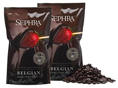 Sephra 21001 Belgian Dark Couverture Fondue Chocolate, (2) 2-lb Bags