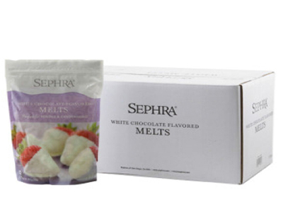 Sephra 28009 White Chocolate Melts, Fountain Ready, Hardens Quickly, (10) 2-lb Bags