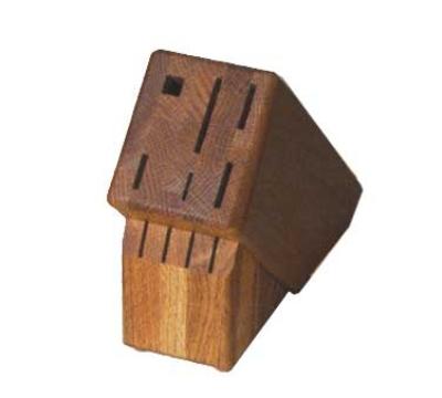 Victorinox - Swiss Army 41490 Slant Oak Cutlery Block w/ 10-Slots