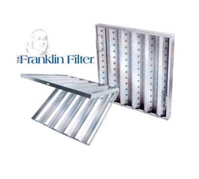 Franklin Machine 129-1112 Hinged Baffle Filter, 20x20-in, Stainless
