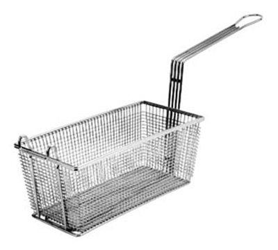 "Franklin Machine 2251002 Fry Basket, Twin, 17-1/8"" x 8-1/4"" x 6"" H, Nickel Plated"