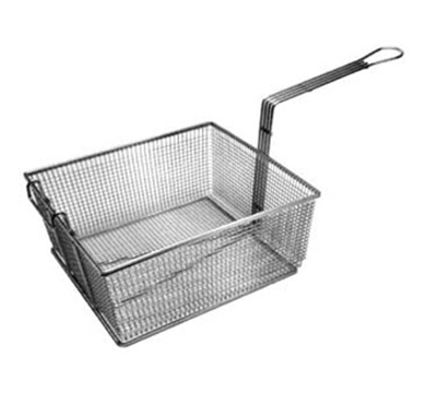 Franklin Machine 2251003 Rectangular Fry Basket w/ Front Hook, Nickel Plated, 13x12.25x5.63-in