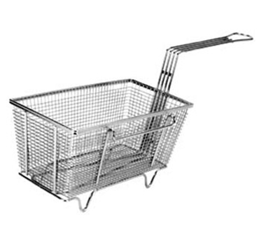 Franklin Machine 225-1009 Rectangular Twin Fry Basket w/ Feet & Left Hook, 12.13x6.63x5.63-in