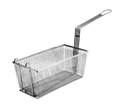 Franklin Machine 225-1010 Rectangular Twin Fry Basket w/ Front Hook, Nickel Plated, 13.25x5.75x5.75-in