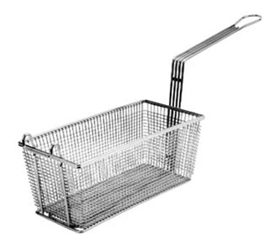 Franklin Machine 225-1011 Rectangular Twin Fry Basket w/ Front Hook, Nickel Plated, 8.25x4.13x4.5-in