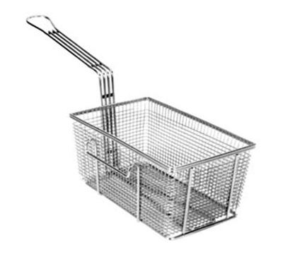 Franklin Machine 225-1015 Rectangular Twin Fry Basket w/ Right Hook, Nickel Plated, 10.75x6.75x5-in