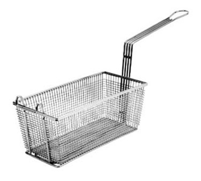 Franklin Machine 2251041 Rectangular Triple Fry Basket w/ Front Hook, Nickel Plated, 13.25x4.