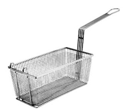 Franklin Machine 225-1054 Rectangular Triple Fry Basket w/ Front Hook, Nickel Plated, 17.13x5.75x