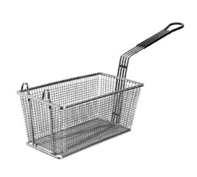 Franklin Machine 225-1063 Rectangular Twin Fry Basket w/ Front Hook, 12.13x6.32x