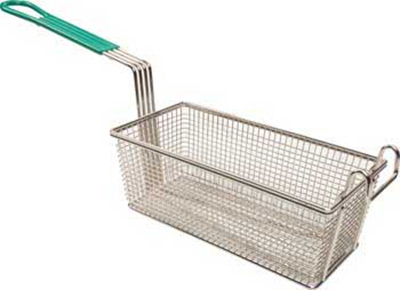 Franklin Machine 225-1082 Fry Basket w/ Teal Handle, 11x5.63-in