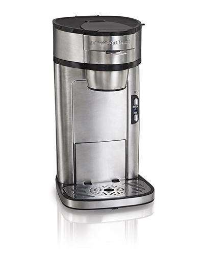 Hamilton Beach 49981 Single Serve Coffee Maker w/ Scoop and Filter, Stainless