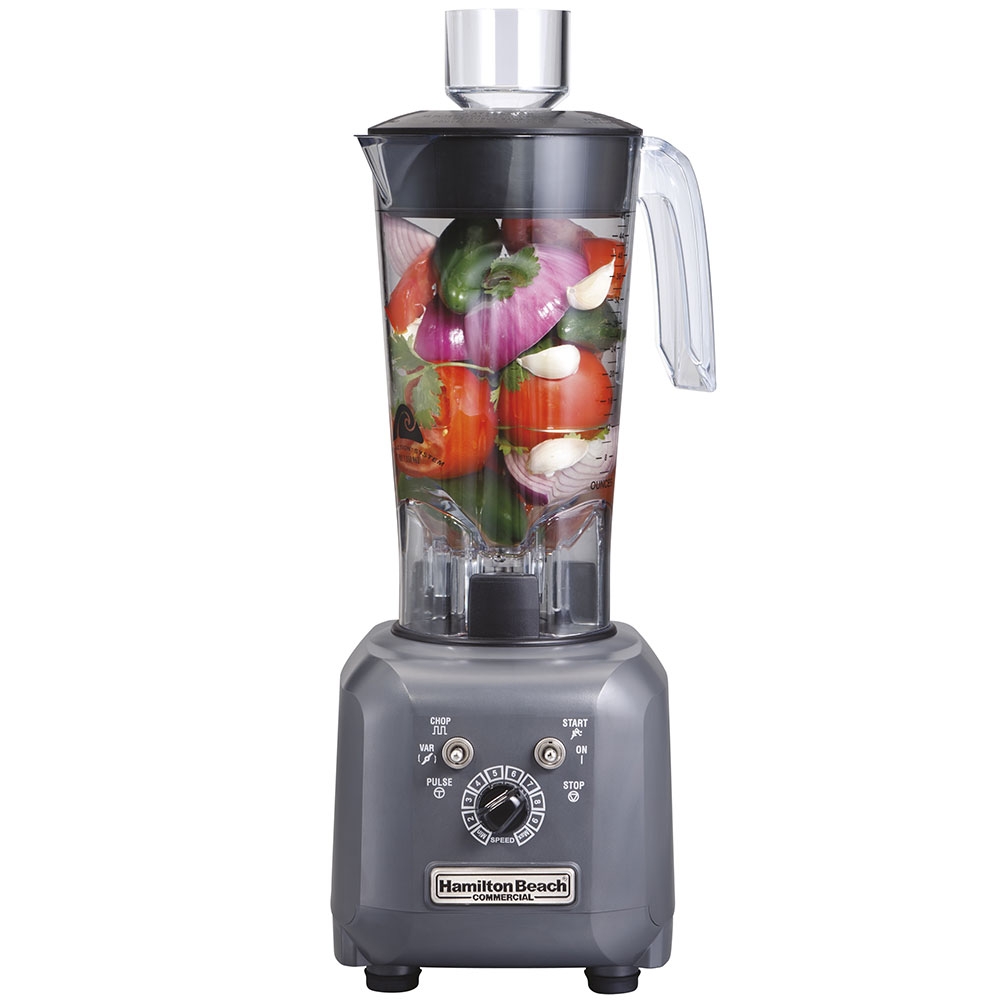 Hamilton Beach HBF500 Stackable Food Blender w/ 48-oz Polycarbonate Container, Variable Speed