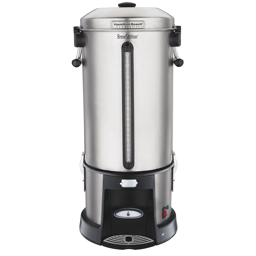 Hamilton Beach HCU110S Single Station Urn w/ 110-Cup Capacity & 2-Heater System, Stainless