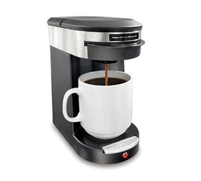 Hamilton Beach HDC200S-CE 1-Cup Pod Coffee Maker for 8 to 12-oz Mugs, Auto Shut Off, Front Load