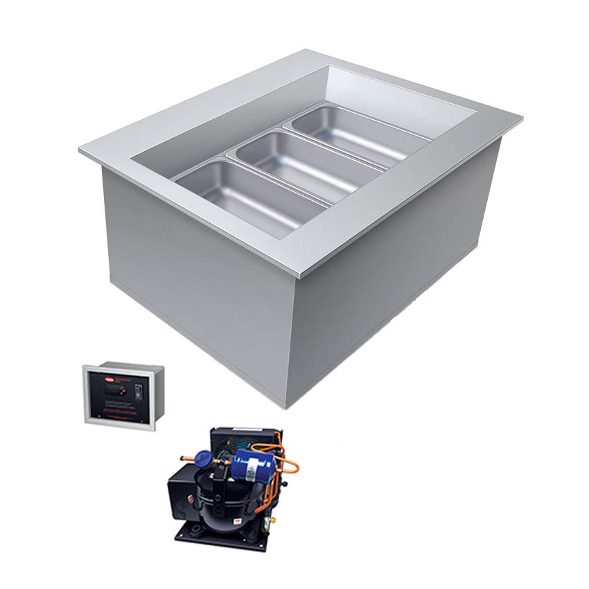 Hatco CWBR-3 Drop-In Remote Refrigerated Well, 3-Pan Size, Auto Defrost, Service Valves