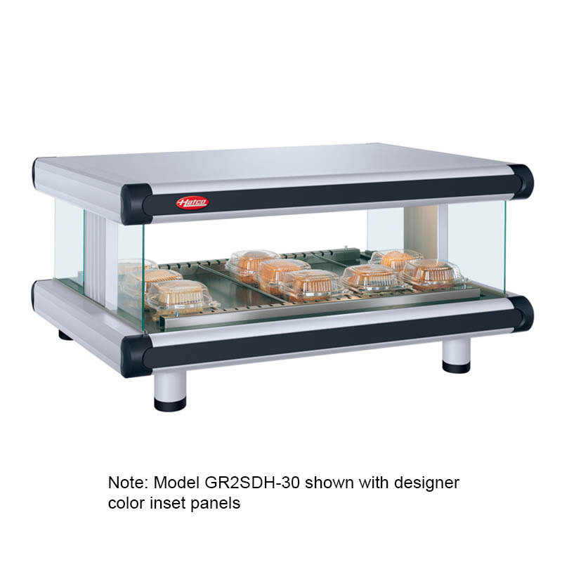 Hatco GR2SDH-30 Designer Horizontal Display Warmer, 1 Shelf w/ 6 Rods, 845 W